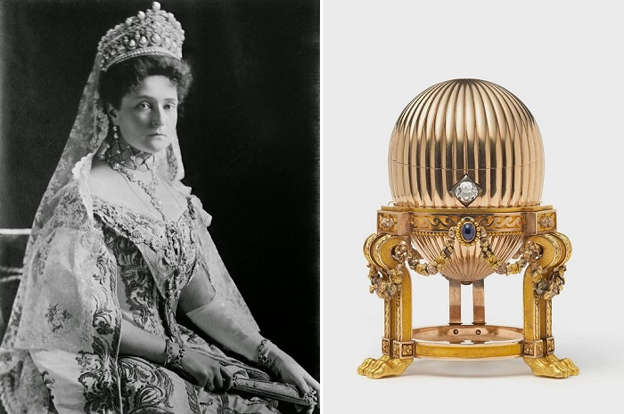 Императрица Александра Федоровна и яйцо Фаберже.